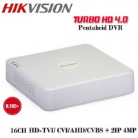 16 канален видеорекордер 2MP DVR + 8IP DS-7116HQHI-K1