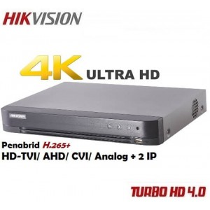 4 канален DVR 8MP 4K Ultra HD DS-7204HTHI-K1