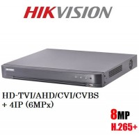 8 канален ДВР рекордер 8MP TVI DS-7208HUHI-K2 5в1