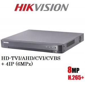 8 канален ДВР рекордер 8MP TVI DS-7208HUHI-K2 5в1