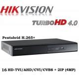 8 канален DVR пентабриден DS-7216HQHI-K1/A + 2IP