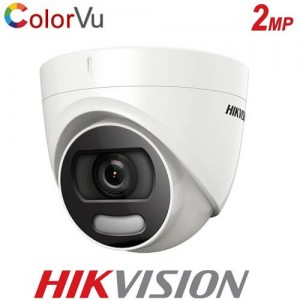 Куполна камера за видеонаблюдение 2MP ColorVu DS-2CE72DFT-F