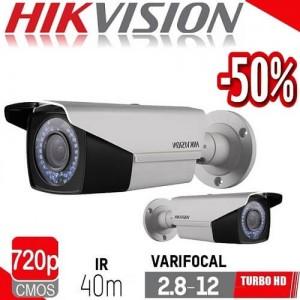 Камера за видеонаблюдение 1MP DS-2CE16C2T-VFIR3/CVBS 2.8-12mm