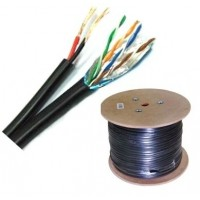 FTP кабел Cat5e 24AWG CU + 2x0.75mm