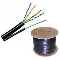 FTP/M кабел Cat5e 24AWG CU - меден с носещо въже