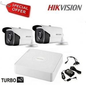 Готова система HD-TVI с 2 корпусни камери HIKVISION 2CH-40M