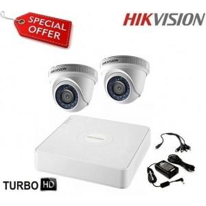 Готова система HD-TVI с 2 куполни камери HIKVISION 2CH-IN