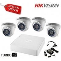 Готов комплект HD-TVI с 4 куполни камери HIKVISION 4CH-IN