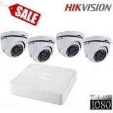 Готов комплект Full HD с 4 куполни камери 4CH-IN/FHD