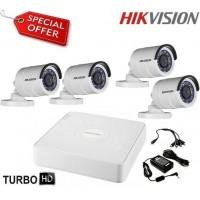 Готов комплект HD-TVI с 4 булет камери HIKVISION 4CH-OUT