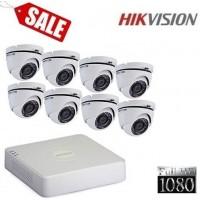 Комплект за видеонаблюдение Full HD с 8 куполни камери 8CH-IN/FHD