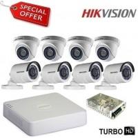 Комплект за видеонаблюдение HD-TVI с 8 камери HIKVISION 8CH-IN/OUT