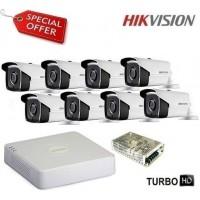 Комплект за видеонаблюдение HD-TVI с 8 булет камери HIKVISION 8CH-40M