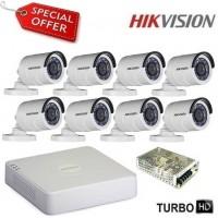 Комплект за видеонаблюдение HD-TVI с 8 булет камери HIKVISION 8CH-OUT