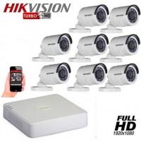 Комплект за видеонаблюдение Full HD с 8 булет камери 8CH-OUT/FHD