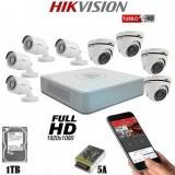 Система за видеонаблюдение HIKVISION с 8 охранителни камери 2MP